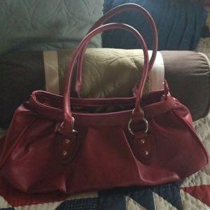Fun red shoulder purse